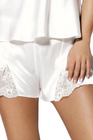 Balta atlasinė pižama Zala