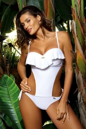 Baltas maudymosi kostiumėlis CARMEN