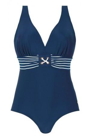 Mėlynas vientisas maudymosi kostiumėlis S600M6
