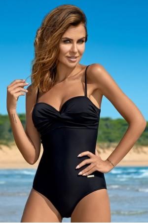 Vientisas juodas maudymosi kostiumėlis KAREN