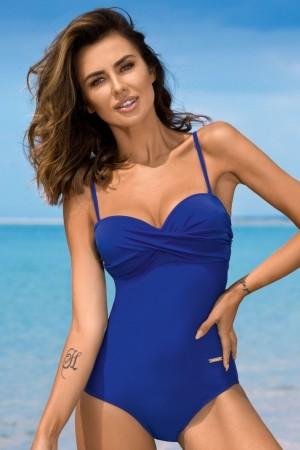 Mėlynas vientisas maudymosi kostiumėlis KAREN