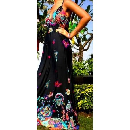 Nuostabi raštuota maxi suknelė (002)
