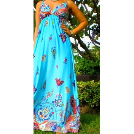 Nuostabi raštuota maxi suknelė (003)