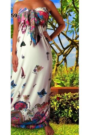 Nuostabi gėlėta maxi suknelė (006)