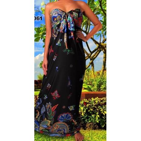 Nuostabi gėlėta maxi suknelė (010)