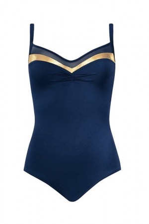Mėlynas vientisas maudymosi kostiumėlis (367)